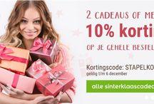 Stapelkorting / Leuke actie bij YourSurprise. Profiteer t/m 6 december van 10% korting op je gehele bestelling bij aankoop van 2 cadeaus of meer!