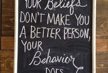 My beliefs and Inspirational Quotes