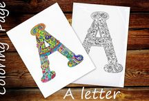 Zentangle, Coloring pages / A board with printable coloring pages for adults, relaxing activities for all the family