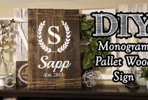 Monogrammed signs