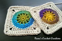 Squares, Hexagons & Motifs / Crocheted squares, hexagons and appliqué motifs