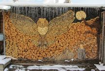 Ingenious Ways To Stack & Store Firewood / Not many people realize that even a stack of wood can be turned into a beautiful artwork or decoration.There are lots of interesting designs you could make, inspiring from nature, trees, animals and birds.