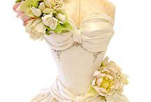 bridal dress cakes