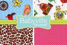 Babyville Boutique ~ DIY Baby! / Are you a new mom? Are you a sewist too? Get acquainted with Babyville Boutique - it's a line of DIY products that will let you make all kinds of handmade love for your little one.