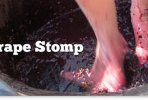 Grape Stomp / Our Annual ORDER OF THE PURPLE FOOT kicks off the first two weekends in August.  This amazing time is full of fun, wine and food.  Every participants name is also printed on that years bottle of our Foot Pressed Red!   www.drycomalcreek.com/grape-stomp