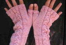 Mitenki / rękawiczki na drutach