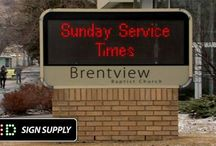 For Churches - LED Billboards and Electronic Message Boards / Just about every Church you see now days has a nice LED Billboard, or an electronic message board. Churches are using electronic LED billboards and message signs for all types of activities. Easy to use, built to last.