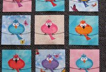 Cute fat birds quilt.