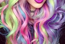 Crazy hair / You can transfer your hair in different styles....here are some crazy ideas!<3