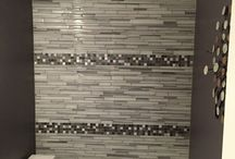 Trendy Tile-mosaic glass tile / Mosaic tile designs in Kitchen and Bath