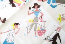 Tea towels/linens 4 / Board full / by Diane Yacopino