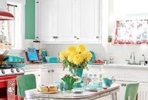 retro colours and decoration ideas
