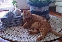 crochet rug, basket, dywan, koszyk / zapraszam na  https://www.facebook.com/Motilove.eu