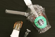 """6"""" StarBuds Dabuccino Rig / 6"""" StarBuds Dabuccino Rig stands about 6"""" Tall and 3"""" Wide at the base. Thick glass that will not break easily. Comes with everything in pictures + a FREE Elephant Pipe. Each rig comes with a complimentary glass dome which has caramel/mocha drips running down and a nail."""