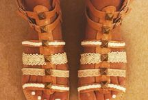 More Sundalion designs / More ethnic styled sandals, all handmade in Greece.
