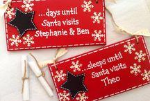 Christmas plaques