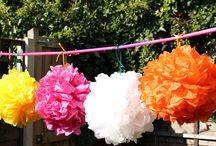 Tissue Pom Poms / tissue pom poms, tissue flowers, budget wedding decorations, wedding decorations, DIY wedding decorations, handmade wedding decorations
