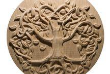 Mandalas / Magic made of wood mandalas.