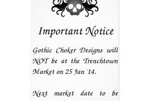 Markets / Announcements and photos from markets that Gothic Choker Designs has traded at