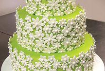 White & Greenery Wedding Cakes / Greenery, Wedding, Cakes, Yellow-Green, Zesty, Spring, Revive, Restore, Renew