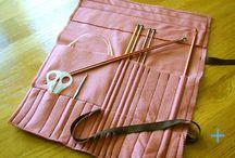 Knitting needles case