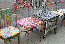 Bemalte möbel