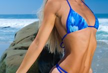 Nvr Strings - Thong Bikini / Nvr Strings - Blue Feathers - thong bikini - Vuesai style / by Nvr Strings