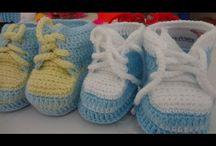 botinha de crochê p/bebê alice