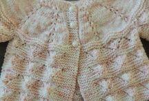 tricô  para bebés