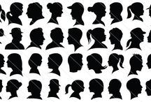 Silhouette Head Shots / Cameo Silhouette Head Shots for you, will be a perfect vector stock in your people silhouette library. Both men, women silhouette cameo added, a total of 120 vector silhouettes. Along with teen boys, girls, kids, magicians also added.