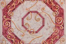 Francesco De Maio. Collezione #Foulards / Quando la moda diviene arte. Stile e raffinatezza. Un quadrato di tessuto si trasforma in un quadrato di ceramica.  #chic #eleganza #griffe #moda #JacquelineKennedy #GraceKelly #HenryMatisse #SalvadorDalì