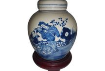 Blue and White Jars by Oriental Furnishings / Porcelain accent pieces for your table top by oriental furnishings