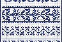 blue + white to make / things that can be stitched or knitted or sewn ... blue + white of course! / by Ina/Tante Sophie