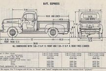 Old Ford Pickups, commercial trucks, panel vans, and so on. / Vintage Ford commercial vehicles.