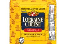 Our Cheeses / Lorraine® is a premium sandwich cheese with a delightfully creamy flavor and a lacy, light texture that stacks beautifully  on deli platters, heroes, hoagies and crackers. At only 75 mg  per serving, Lorraine® cheese is naturally low in sodium but still deliciously full-flavored. Lorraine® cheese:  the crown jewel of your sandwich. / by Lorraine Cheese