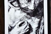 """Jacob Aue Sobol / Drawings / BIC / Black """"BIC"""" pens only. 42 X 63 cm"""