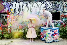 Trash the dress / Let's have fun with your wedding dress! paint it,swim with it and get crazy!