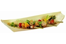 Eco-Friendly Tableware / Eco-Friendly Plates, Bowls, Serving Trays, Utensils, Skewers, and Appetizerware