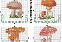 Cross stitch - mushrooms