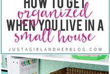 Small Space Organization / Get creative in your small space! Organizing it can be hard, but it doesn't have to be. Here you will find some of the best tips and tricks for organizing your small home.