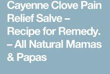 Cayenne and clove salve