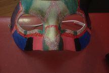 Nail polish painted mask