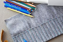 Roll up pencil case diy