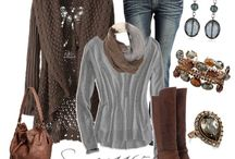 Brown and grey outfit