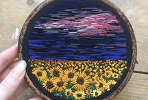 Usedthreads embroidered landscapes