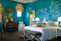 Blue Bedroom / I am currently looking for inspiration for my guest bedroom.... turquoise with whites OR  turquoise with purples. How will I decide?