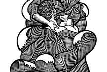 Grabado / Linograbado/linocut; xilografía/woodcut.