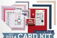 SSS July Kit Inspirations / Simon Says Stamp Monthly Card Kit