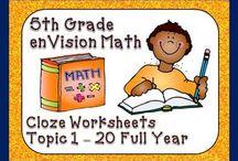 5th Grade EnVision Math / by Caitlin Gansman