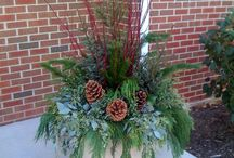 Christmas outdoor planter s